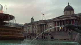 Londra, Regno Unito 26 gennaio 2017 Fontana quadrata di Trafalgar archivi video