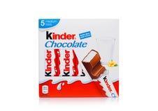 LONDRA, Regno Unito - 17 novembre 2017: Scatola più gentile della barra di cioccolato su bianco Le barre più gentili sono prodott Fotografia Stock