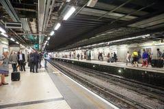 28 07 2015 LONDRA, Regno Unito - vista della stazione di Victoria Fotografie Stock