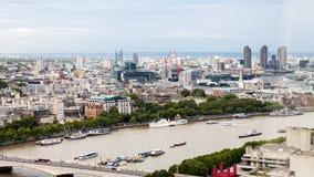 Londra, Regno Unito Vista panoramica di Londra dall'occhio di Londra Immagini Stock Libere da Diritti