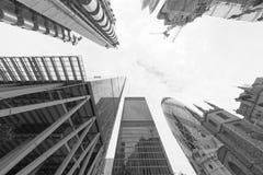 LONDRA - SETTEMBRE 2016: Costruzioni della città di Londra, verso il cielo vista Lo immagini stock