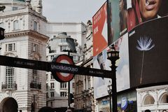 Londra sotterranea immagini stock libere da diritti