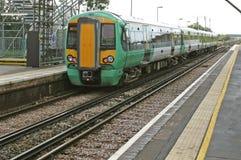 Londra sotterranea in Inghilterra, treni e ferrovia Immagine Stock Libera da Diritti