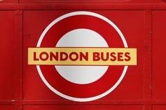 Londra trasporta il marchio Immagine Stock Libera da Diritti