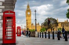 Londra un giorno di primavera nuvoloso Immagini Stock