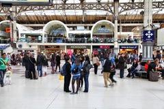 Londra Victoria Station Fotografia Stock Libera da Diritti