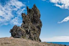 Londrangar岩石在Snaefellsnes国家公园冰岛 库存图片