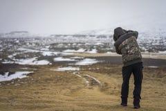 Londrangar στη χερσόνησο Snaefellsness, Ισλανδία Στοκ Φωτογραφίες