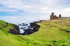 Londrangar -冰岛的旅游胜地 库存图片