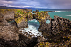 Londrangar Basalt Cliffs Royalty Free Stock Photos