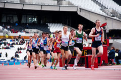 Londres 2012 eventos do teste: corredores Imagem de Stock