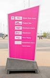 Londres 2012 : stationnement olympique Images libres de droits