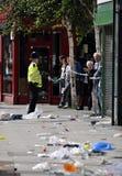 LONDRES - 9 AOÛT : La région de jonction de Clapham est sacke Photographie stock