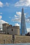 LONDRES, ANGLETERRE - 15 JUIN 2016 : Panorama avec la tour de Londres et du tesson, Londres, Grande-Bretagne Photos libres de droits