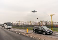 LONDRES, ANGLETERRE - 25 SEPTEMBRE 2017 : Lignes aériennes Boeing de British Airways 747 G-CIVG décollant dans l'International Ai Photo stock