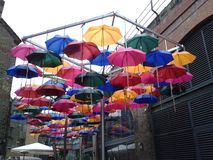 Londres appelle la pluie photo stock
