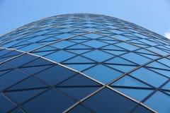 LONDRES, arquitetura inglesa moderna, textura de vidro de construção do pepino Cidade de Londres fotografia de stock royalty free