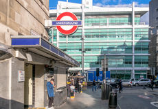 Londres au fond chez Warren Street Photo libre de droits