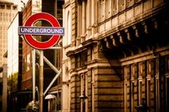 Londres au fond dans la sépia Photographie stock