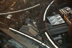 Londres avec le système de transport, Angleterre Photos stock