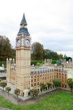 Londres Ben grande y el parlamento en el mini parque de Europa Foto de archivo libre de regalías