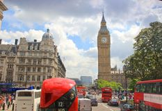 Londres Ben Westminster Palace grande Foto de archivo