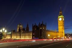 Londres Big Ben e casas do parlamento Imagens de Stock
