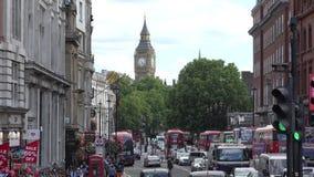 Londres Big Ben visto de Trafalgar Square metrajes
