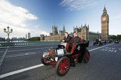 2014, Londres a Brighton Veteran Car Run foto de stock royalty free