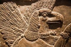 Londres British Museum Alivio del palacio de Assurbanipal en Nínive, Assyria de la caza Imágenes de archivo libres de regalías