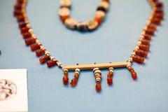 29 07 2015, LONDRES, BRITISH MUSEUM - bijoux égyptiens Photographie stock