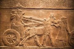 Londres British Museum Soulagement de chasse de palais d'Assurbanipal à Ninive, Assyria photo libre de droits