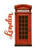 Londres, cabine de téléphone rouge Illustration de vecteur illustration stock