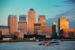 Londres Canary Wharf photographie stock