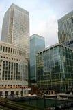 Londres Canary Wharf - bancos Fotos de archivo