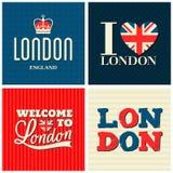 Londres carda a coleção Fotografia de Stock Royalty Free