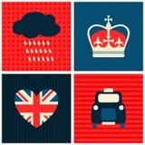 Londres carde la collection Photographie stock libre de droits