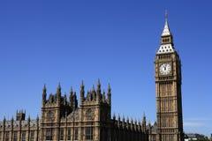 Londres, casas del parlamento y Ben grande Foto de archivo libre de regalías