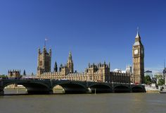 Londres, casas do parlamento Imagem de Stock Royalty Free
