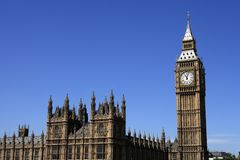Londres, Chambres du Parlement et grand Ben Photo libre de droits