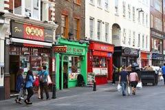 Londres Chinatown fotografia de stock