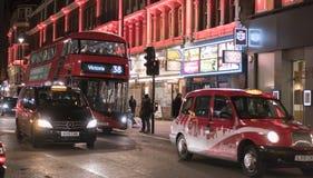 Londres Chinatown por la noche Londres Reino Unido Imagenes de archivo