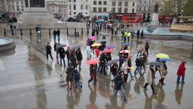 Londres chuvosa imagens de stock