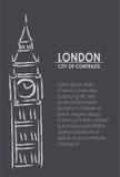 Londres a cidade dos contrastes ilustração royalty free