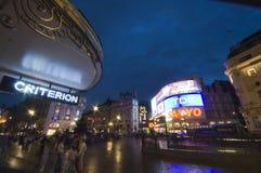 Londres - circo de Piccadilly Fotografía de archivo