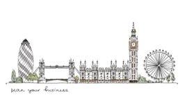 Londres, coleção do esboço Fotografia de Stock Royalty Free