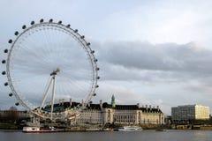LONDRES - 20 DÉCEMBRE : Vue de l'oeil de Londres à Londres le 20 décembre, 20 Photographie stock libre de droits