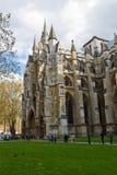 LONDRES - 14 de abril de 2014: La abadía de Westminster es una grande, va principalmente Fotos de archivo libres de regalías
