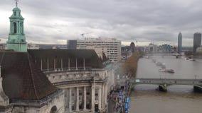 Londres de ci-dessus et de la Tamise banque de vidéos