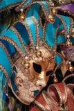 LONDRES - 9 DE DICIEMBRE: Máscara veneciana para la venta en el invierno Wonderlan Imagen de archivo